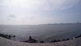 Marine Drive el collar de la reina, Bombay, la India almacen de video