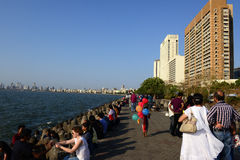 Marine Drive In Mumbai Royalty-vrije Stock Foto