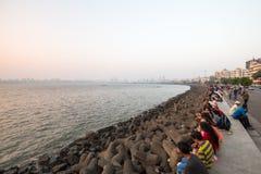 Marine Drive in Mumbai Royalty Free Stock Image