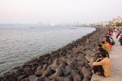 Marine Drive in Mumbai Stock Photo