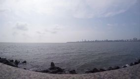 Marine Drive the Queen's necklace, Mumbai, India. stock video