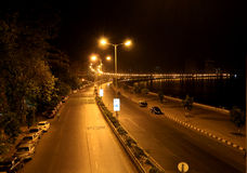 Marine Drive. Scintillating view of Bombay Marine Drive @ Night #Chowpatty # Must see Bombay @ Night India #Night views # iconic india #Magical Moments Royalty Free Stock Photos