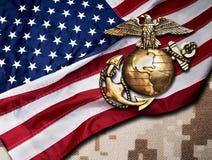 Marine Eagle, globe et ancre images libres de droits