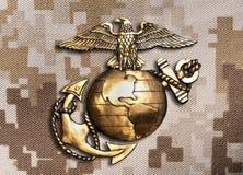 Marine Eagle, globo e âncora imagem de stock royalty free