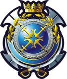 MARINE-Emblem lizenzfreie abbildung
