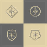 Marine emblem Stock Photos