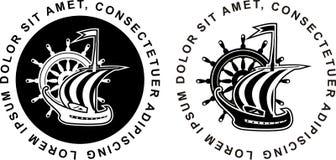Marine emblem Stock Image