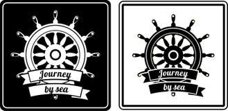 Marine emblem Royalty Free Stock Photography