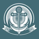 Marine emblem Stock Photos