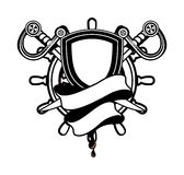 Marine emblem Royalty Free Stock Photography