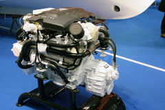 Marine engine. A marine engine at the the The Big Blu - 7TH EDITION FOR THE BOAT AND SEA EXPO OF ROME  in Rome, Italy for the dates of February 20, 2013 through Stock Image