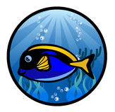 Marine Fish Cartoon Illustration Arkivbild