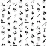 marine and fishing seamless pattern Stock Image