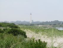 Marine Fog and Lighthouse Royalty Free Stock Photos