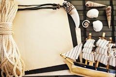 Marine frame. Royalty Free Stock Image