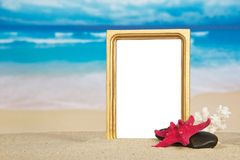 Marine frame for photo Royalty Free Stock Photo