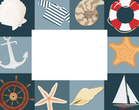 Marine framework. For photo. Vector illustration Royalty Free Stock Images