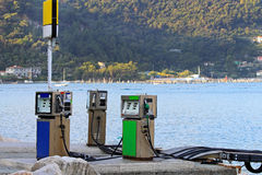 Marine fuel station Stock Image