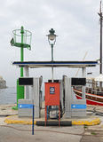 Marine Fuel Station. For Boats and Yachts stock photography