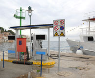 Marine Fueling Station Arkivbilder