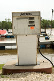 Marine Gas Pump. A gas pump for filling boats, located at a marina Royalty Free Stock Photo