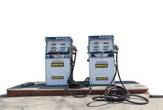 Marine Gas Pumps on white background stock image