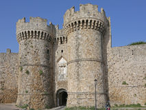 Marine gate into the old town of Rhodes Royalty Free Stock Photo