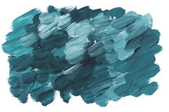 Marine green acrylic paint brush stroke Royalty Free Stock Photo
