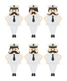 Marine guy mustache avatar portrait picture icon Royalty Free Stock Photos