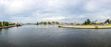Marine harbor in Swinemuende, Poland Stock Image