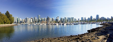 Marine Harbour near Stanley Park in Vancouver Stock Images