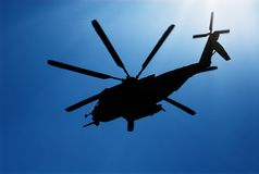 Marine Helicopter 03. A marine Helicopter training at Parris Island royalty free stock images
