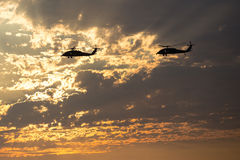 Marine Helicopters near Mirimar MCAS royalty free stock photo