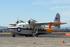 Marine-Herbewegungs-Flugzeug Lizenzfreie Stockfotos
