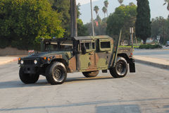 Marine Hummer. Painted in camouflage on parade display Royalty Free Stock Photography