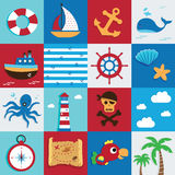 Marine icon Stock Image