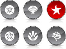 Marine  icons. Stock Photography