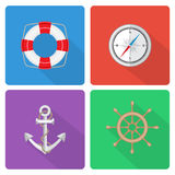 Marine icons Royalty Free Stock Images