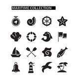 Marine Icons Set Immagine Stock