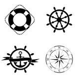 Marine Icons Set Stock Afbeeldingen