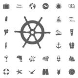 Marine icons set. set of 9 marine outline icons such as crab, helm, cargo ship, sailboat, lighthouse, shell, extinct sea creature Stock Image