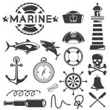 Marine icons Stock Photo
