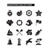 Marine icons set Stock Image