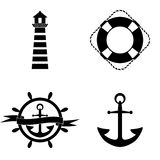 Marine icons vector set Stock Image