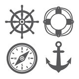 Marine icons. On white background Stock Photo