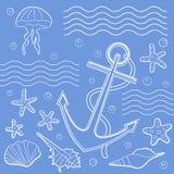 Marine illustration Stock Image