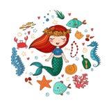 Marine Illustrations Set Images stock