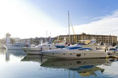 Marine iv. Marina of puerto vallarta in color sunny day royalty free stock image
