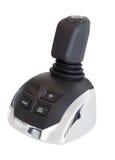 Marine joystick, or shifter, isolated on white background Royalty Free Stock Image
