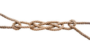 Marine knots isolated royalty free stock photography